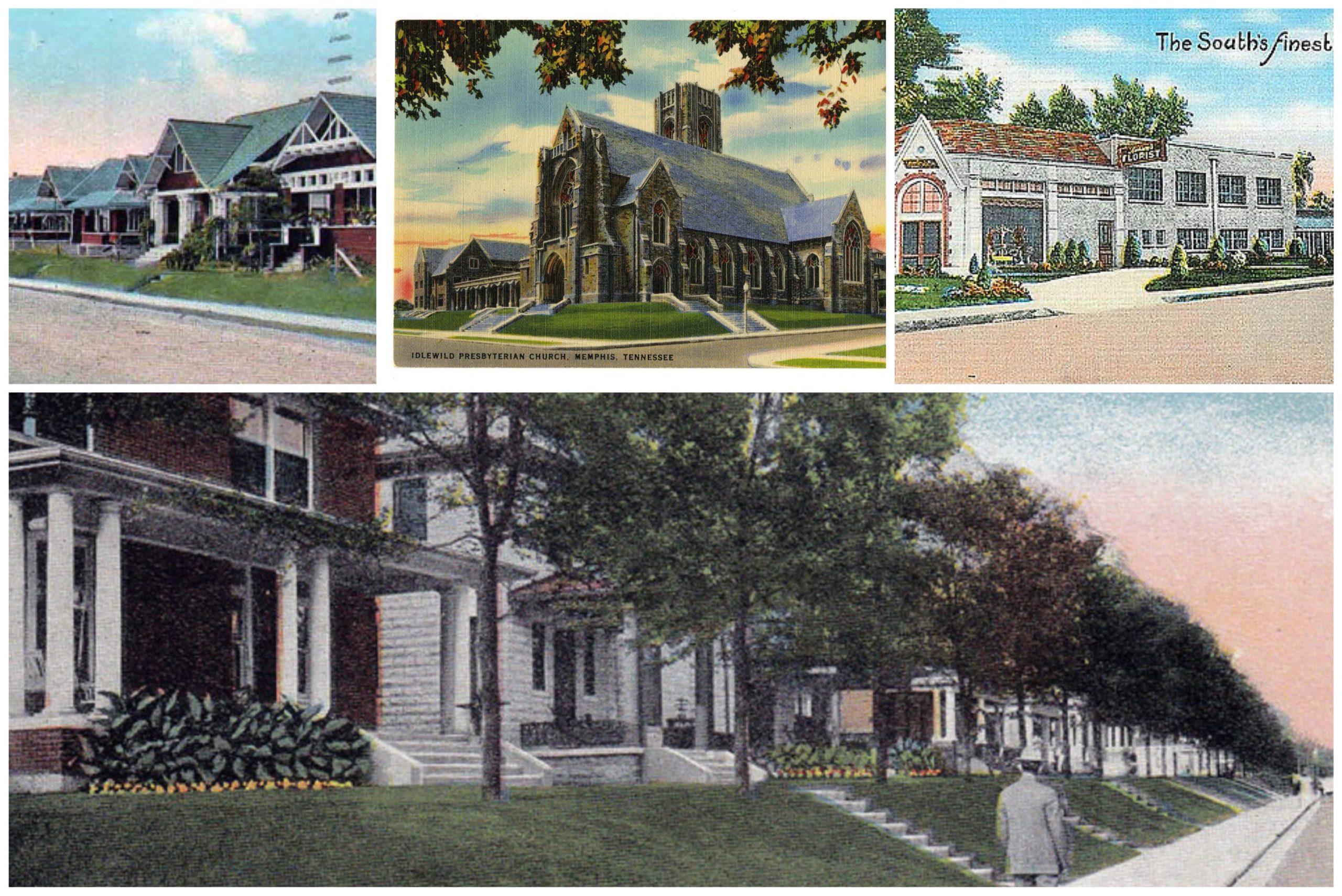 Union Avenue vintage postcards