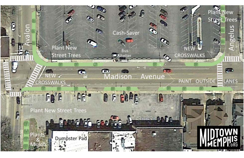 Conceptual improvements at Avalon Street and Madison Avenue