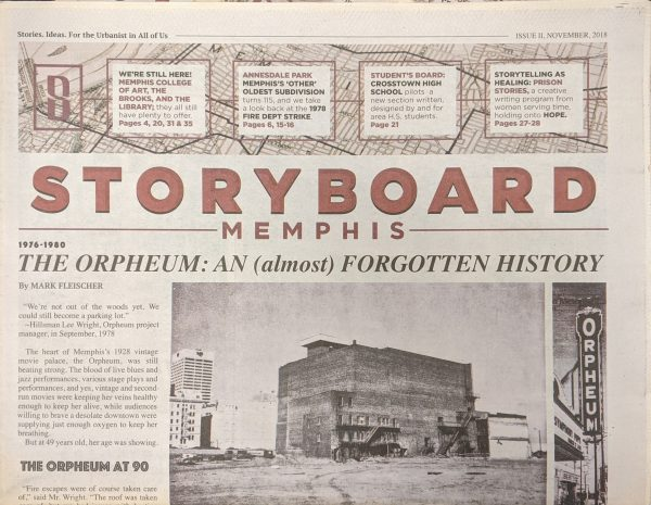 Front page of StoryBoard Memphis Volume II, November 2018